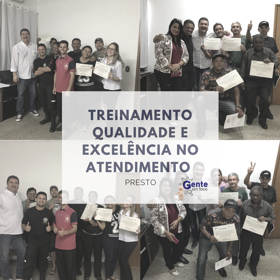Treinamento de Qualidade e Excelência no Atendimento ao Cliente – Equipe Presto